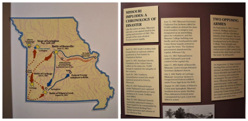 The Civil War came early to Missouri, as the whole are was involved in the struggle for secession.
