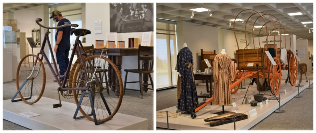 Inside the Stuhr Museum we found static displays of artifacts that were common for prairie life in 1890.