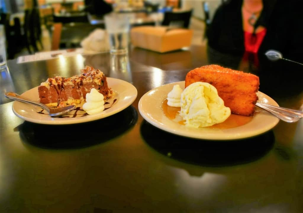 Even with full bellies, we found enough room for a couple of decadent desserts.