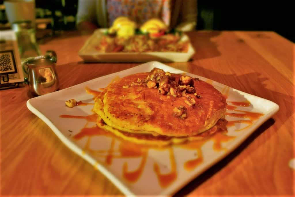 The Sweet Potato Pancakes offer breakfast inspiration for creating new dishes at home.