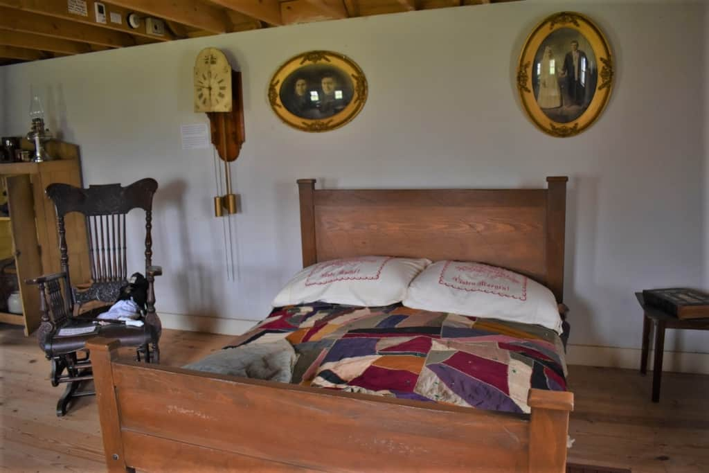This bed would have been an important piece of furniture in a German emigrant home.