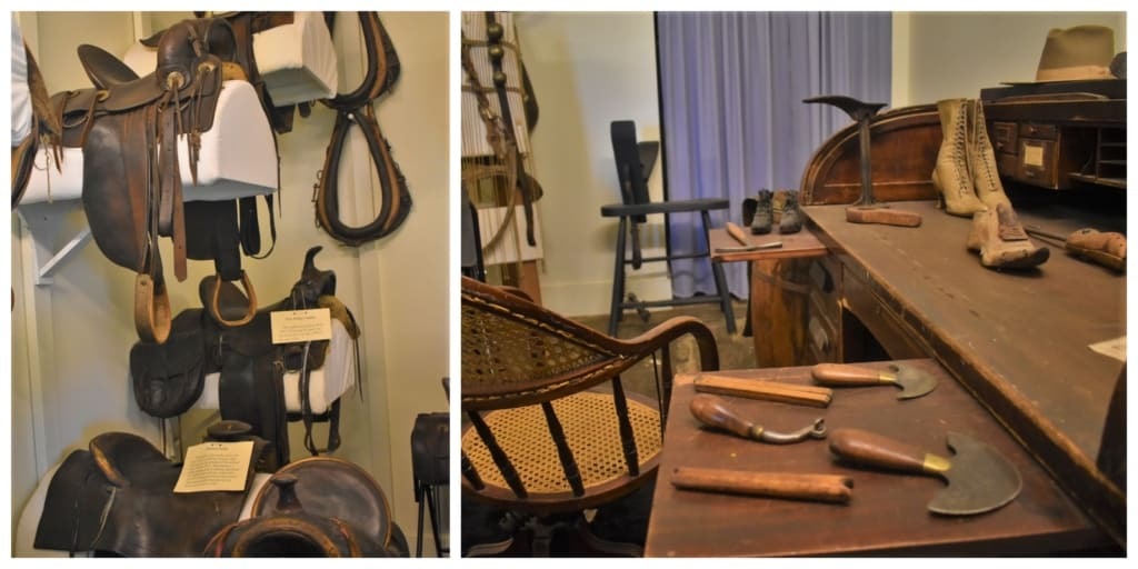 The Harness Shop would have been a vital part of life in the early days of Hays and other frontier towns.