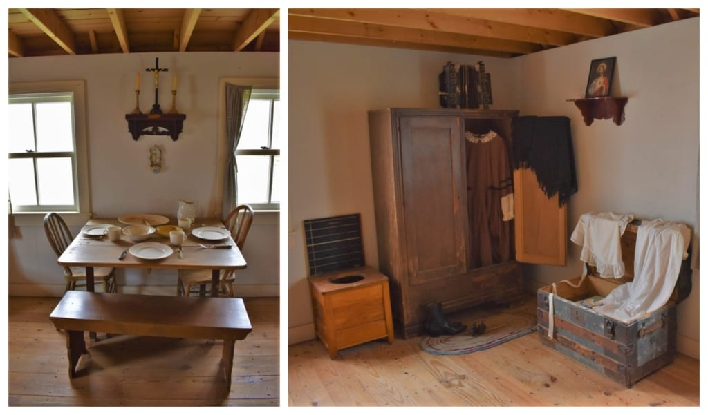 Seeing the way that people lived in the early days of Hays made us thankful for our modern conveniences.
