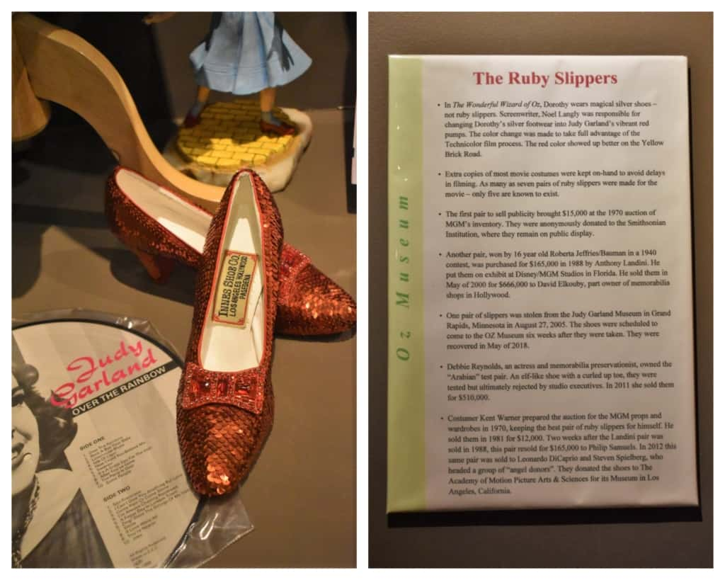 Dorothy's ruby slippers were better suited for visibility on the yellow brick road.