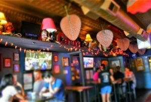 The brightly colored interior is a great place to enjoy an evening of tequila and tacos.