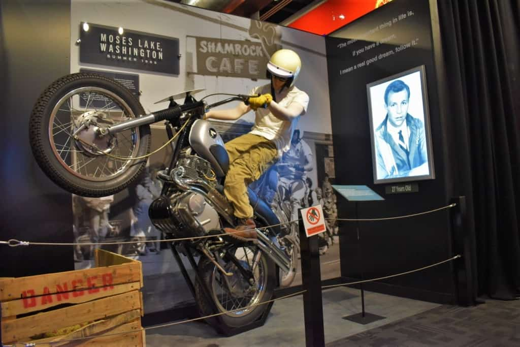 His love of motorcycles became apparent when he started doing motocross.