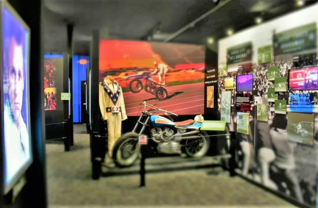 The Evel Knievel Museum is filled with this showman's escapades.