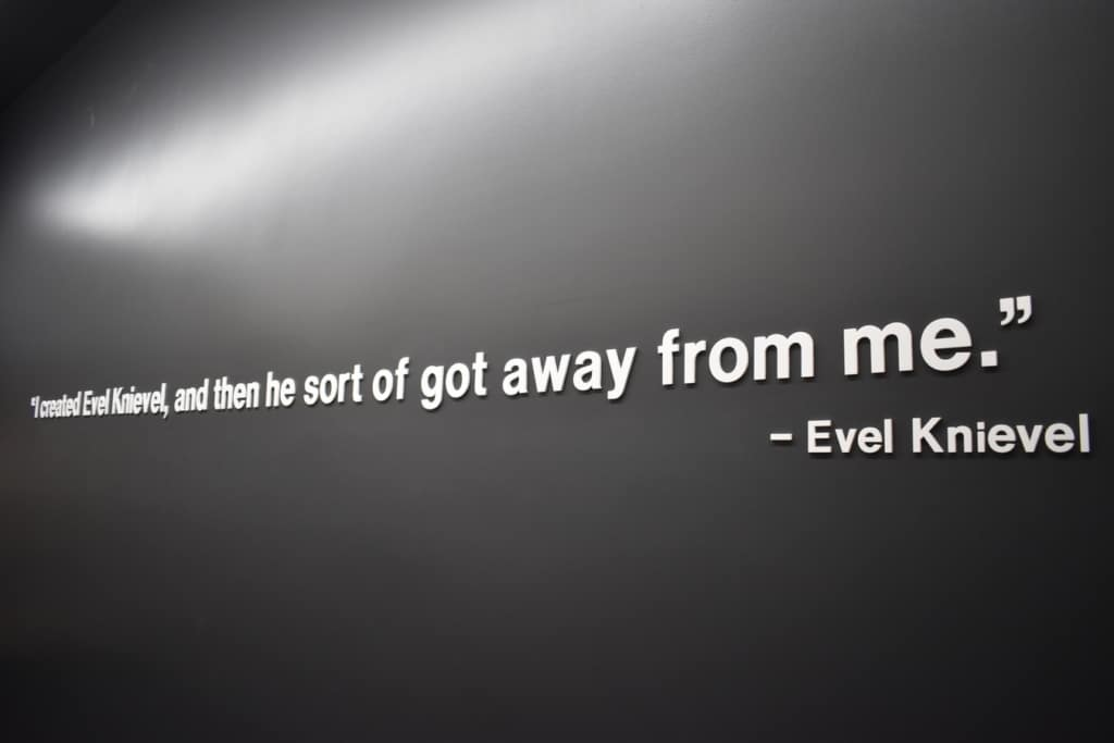 One of his most iconic quotes tells the story of how Evel Knievel was always the showman.