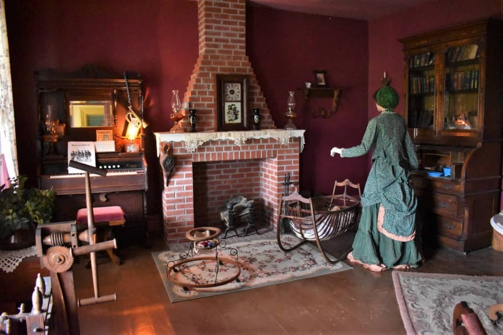 While husbands were taming the plains, their wives were busy making a home for them at Fort Hays.