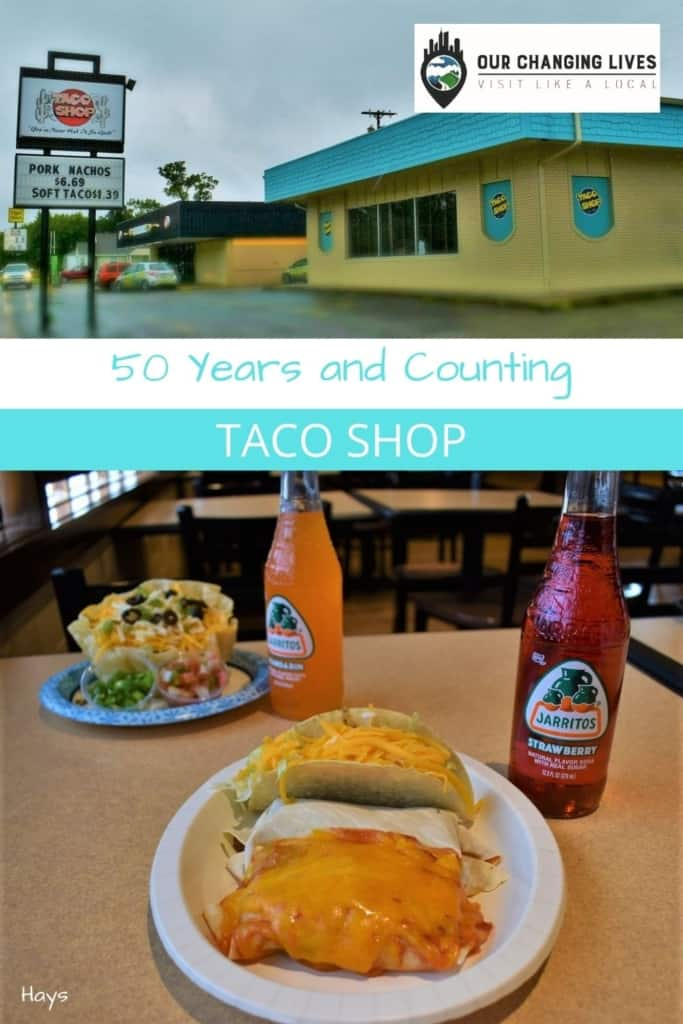 50 Years and Counting-Taco Shop-Hays, Kansas-Tex mex cuisine-taco salad-nachos