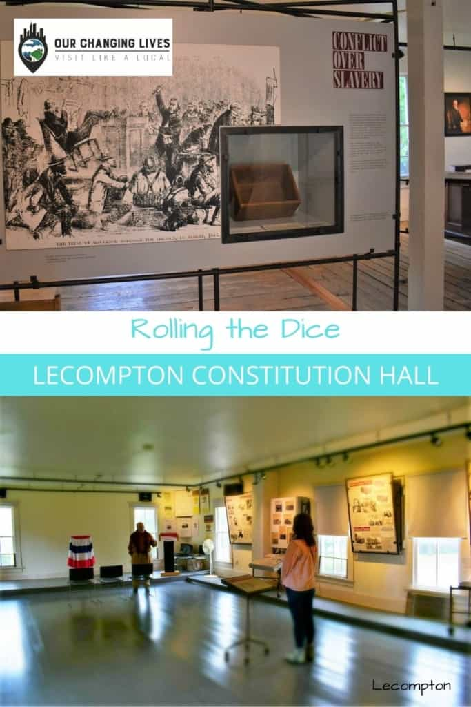 rolling the dice-Lecompton, Kansas-Constitution Hall-Civil War-slavery