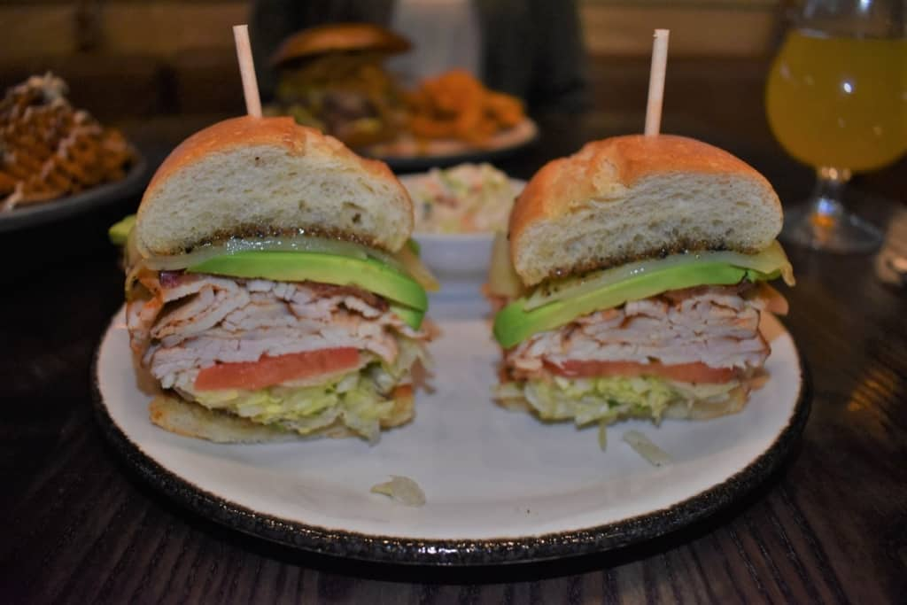 Crystal loved the Smoked Turkey Club that featured sneaky good eats and meat from Char Bar.