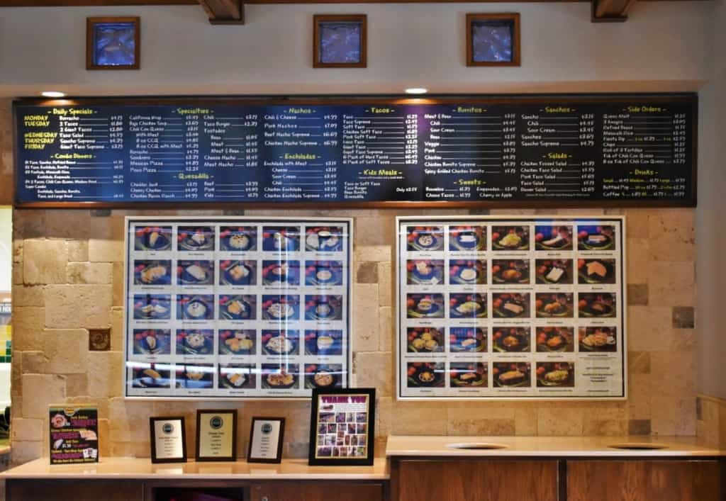 The picture menu helps make deciding on dinner a lot easier.