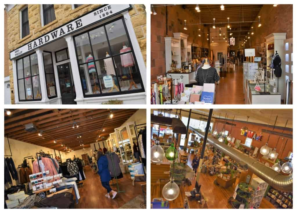It's hard to beat a visit to the local boutiques during a date with history.