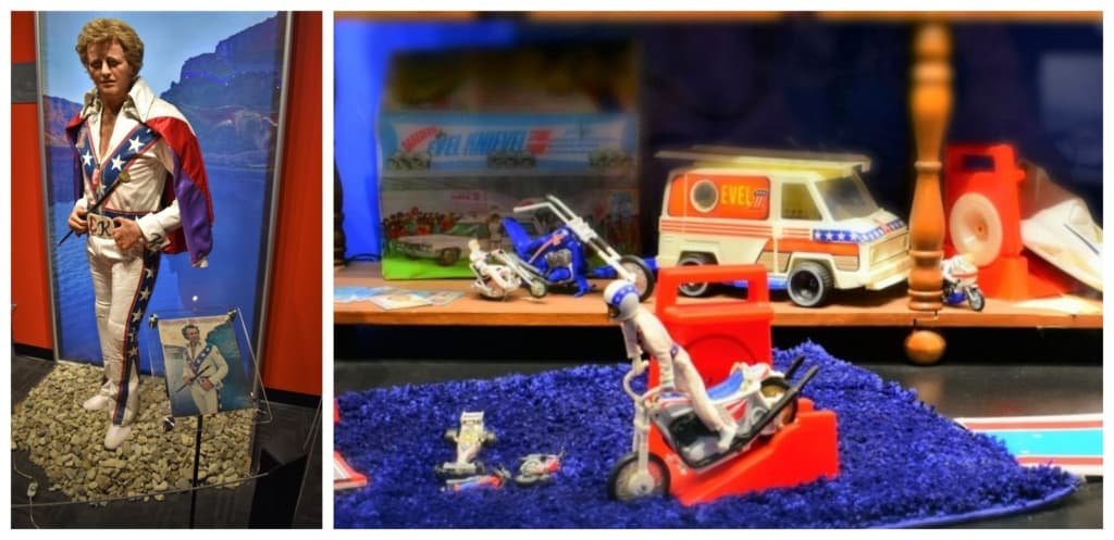 Many of us grew up on Evel Knievel toys and memorabilia.