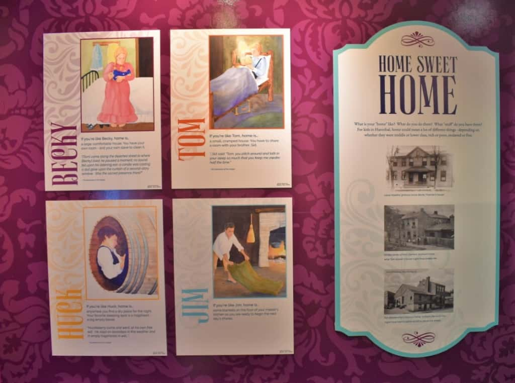 An exhibit about home life includes a panel that showcases other class differences.