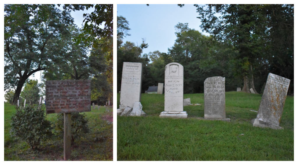 There are conflicting stories about which old cemetery was the inspiration for Twain's scene in Tom Sawyer.