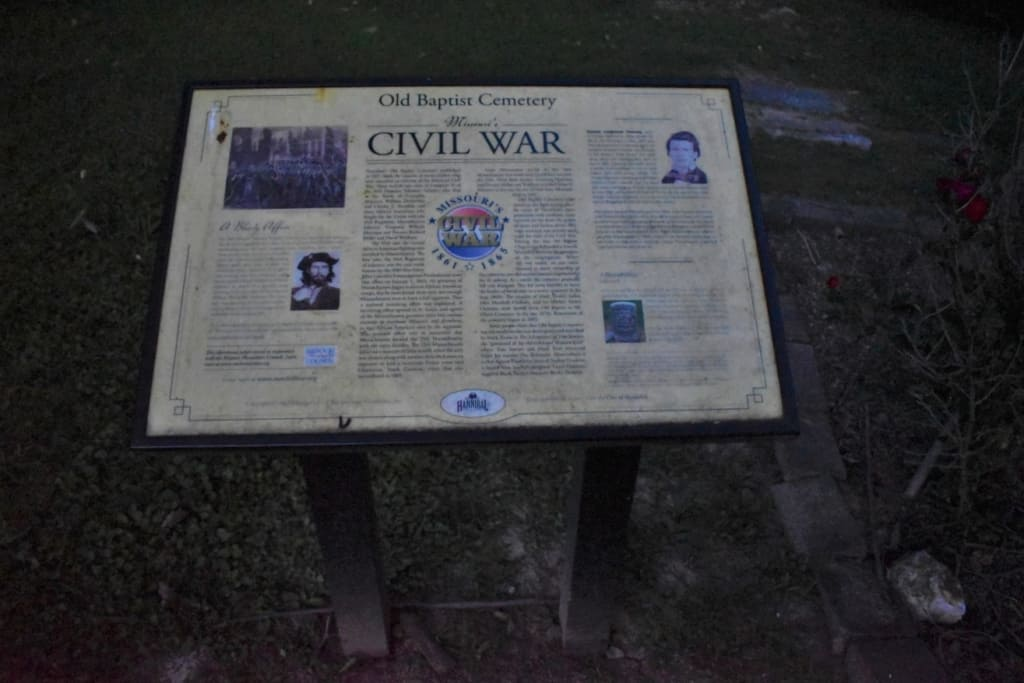 The Old Baptist cemetery is the final resting home for participants from the Civil War.
