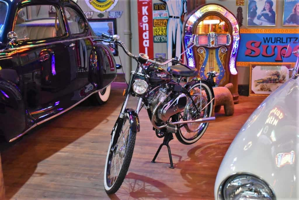 A Whizzer motorized bicycle helped people get around with ease.
