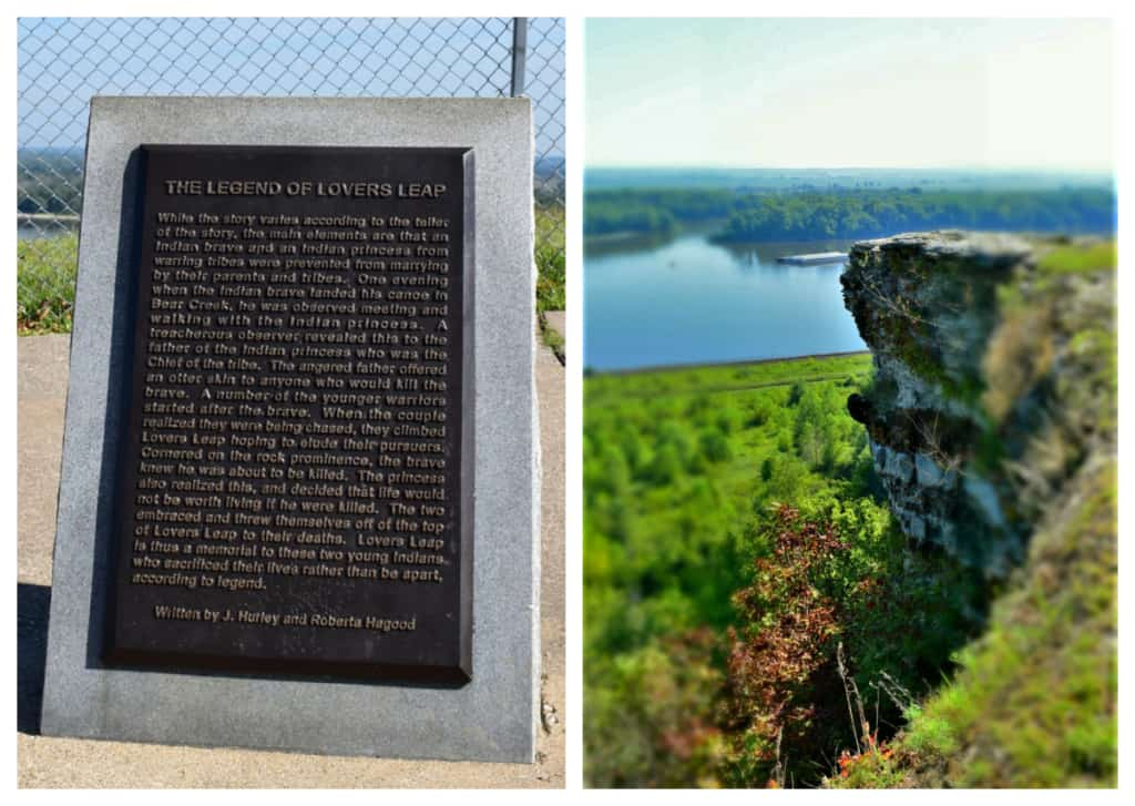 Lover's Leap offers amazing views of the city and the Mississippi River below.