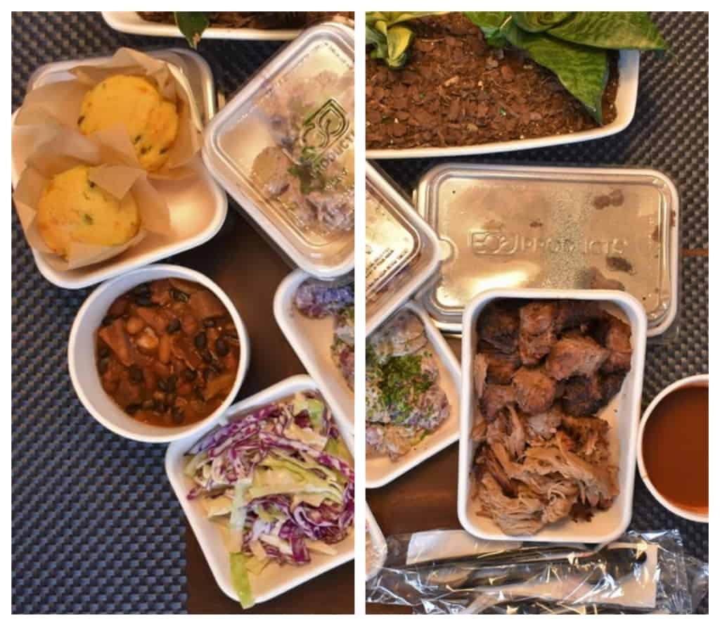 Photos of the dishes show just how much variety can be expected when you do your tailgating COVID style with a meal kit from the Kansas City Downtown Marriott.