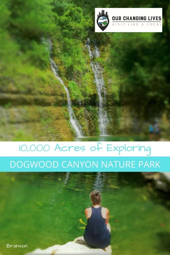Dogwood canyon Nature Park-Branson, Missouri-10,000 acres of Exploring-waterfalls-trout-hiking-biking-trails-Bass pro