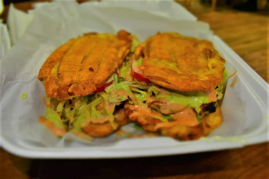 Chicken Jibarito is gaining traction as one of the dishes that is a favorite at Caribe Blue.