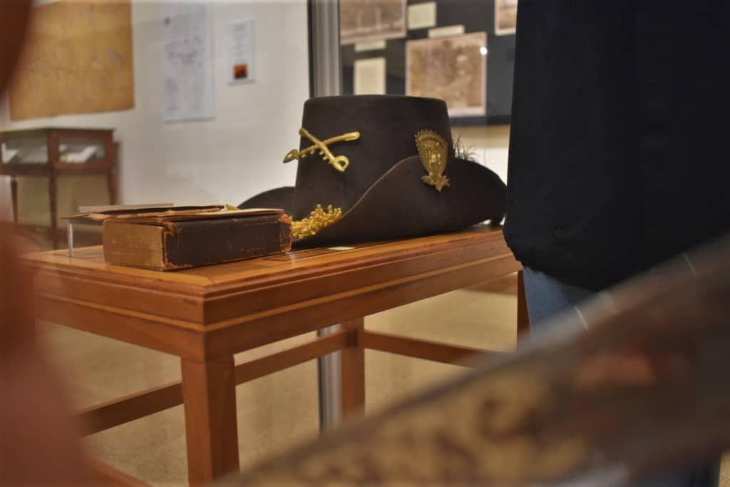 Part of the uniform of a Civil War general is on display during the celebrating 200 years exhibit at the Boone County History Museum.
