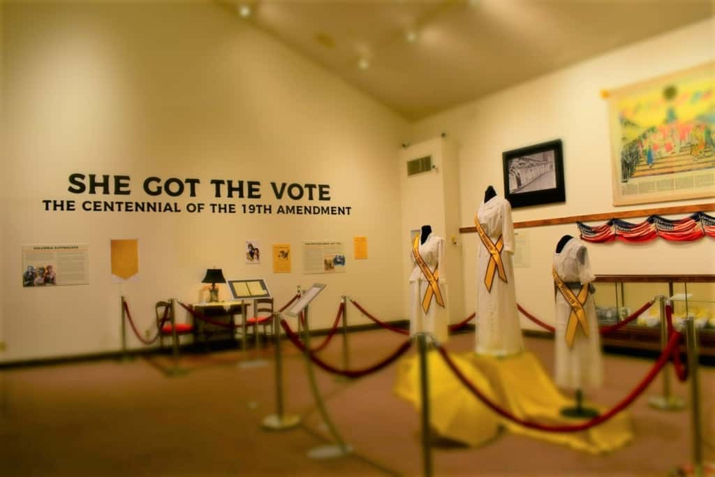 One of the traveling exhibits paid homage to the 100th anniversary of the ratification of the 19th Amendment.