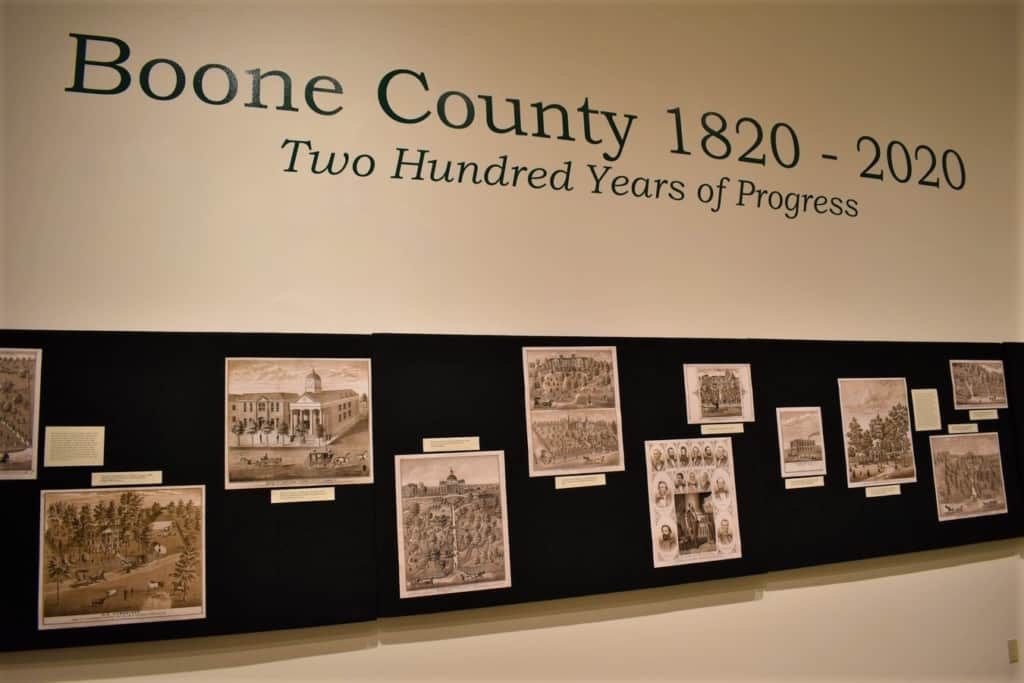 The main exhibit was celebrating 200 years of Boone County history.