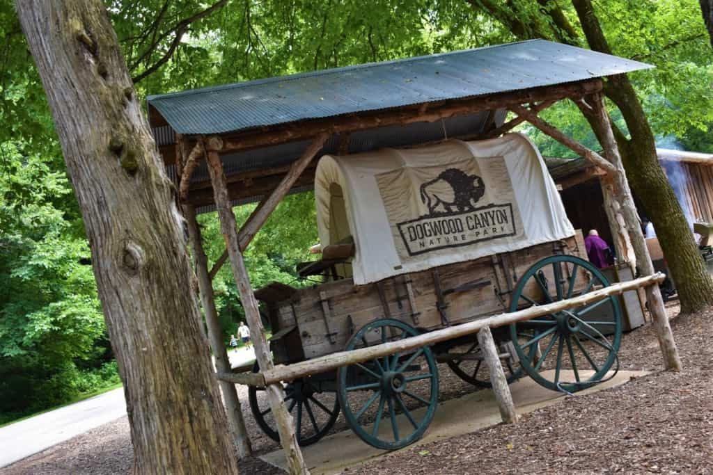 An old-time chuckwagon marks the place where we could find a picnic style dinner.