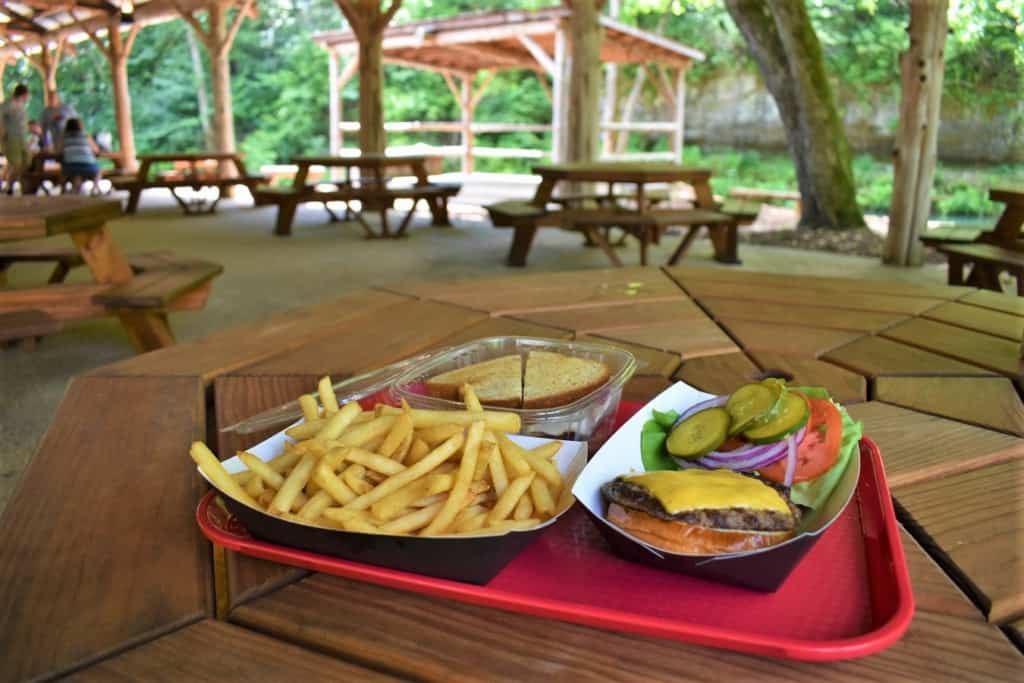 Lunch was served up at the chuckwagon during our visit to Dogwood Canyon.