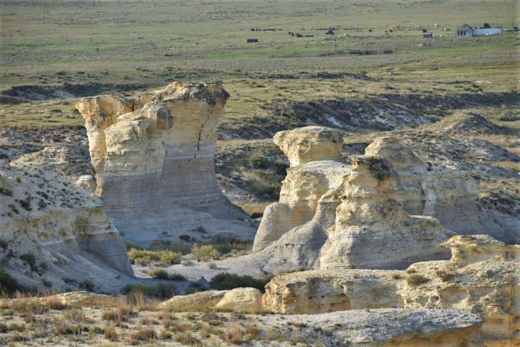 These chalk formations reminded us that while we were still in Kansas, we were seeing new sights.