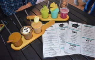 e startedadventure of tasty treasures with two rounds of the craft cocktails at Doxie Slush.