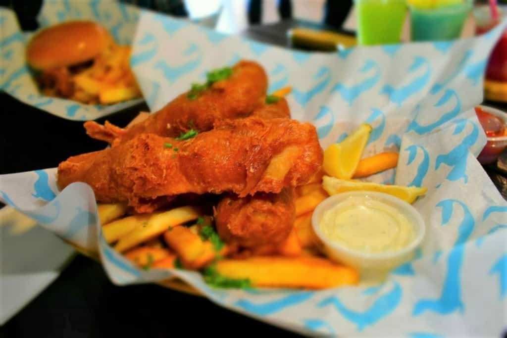 The Fish n' Chips is a popular entrée that brings the taste of the sea to Hermann, Missouri.