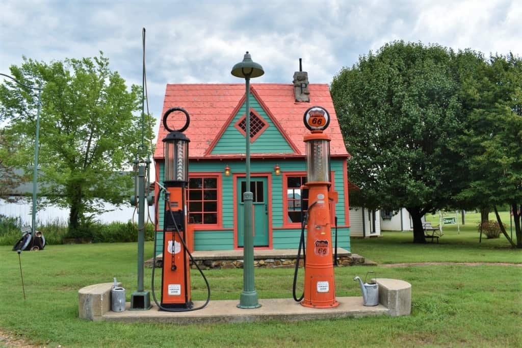 An old Phillips 66 filling station reminds us of simpler times.