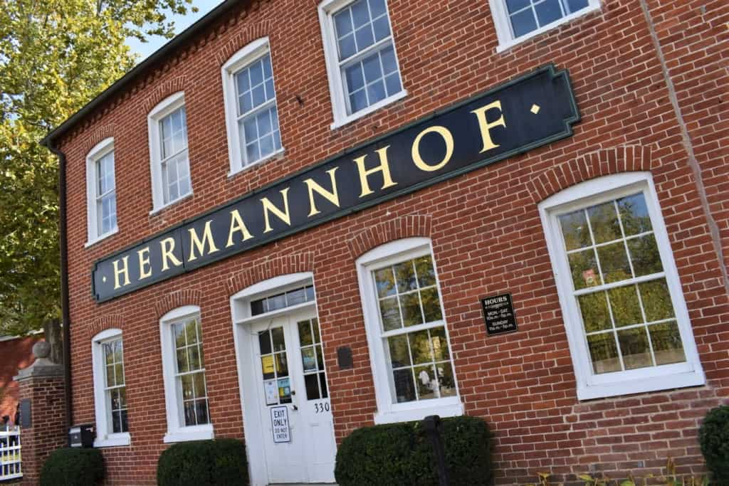 Our stop at the Hermannhoff Winery allowed us to see one of the oldest buildings in Hermann, Missouri.