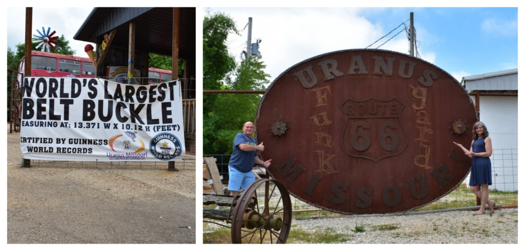 The world's largest belt buckle can be found at Uranus, Missouri.