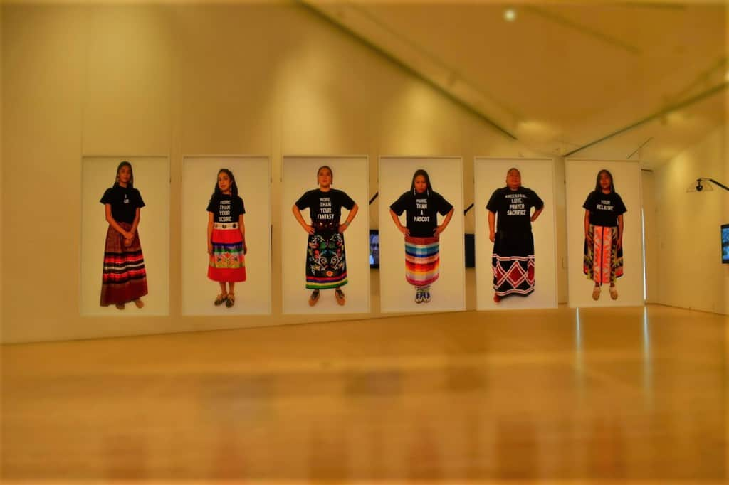 Dyani Hawk's newest exhibit highlights the struggles of native American women losing their voice.