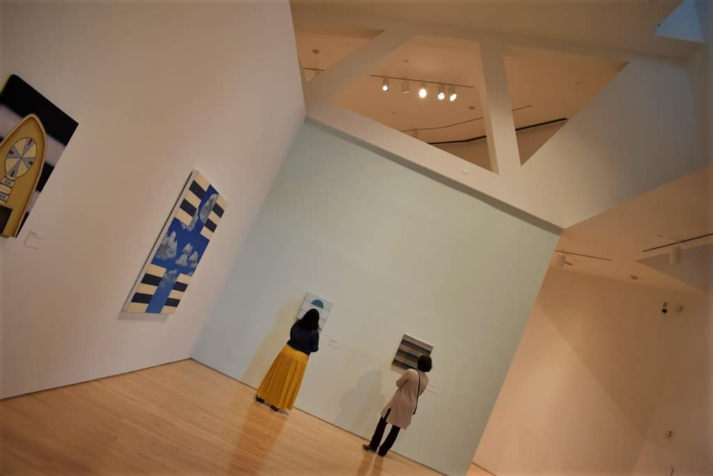 The open galleries of the Kemper museum offer plenty of social distancing.