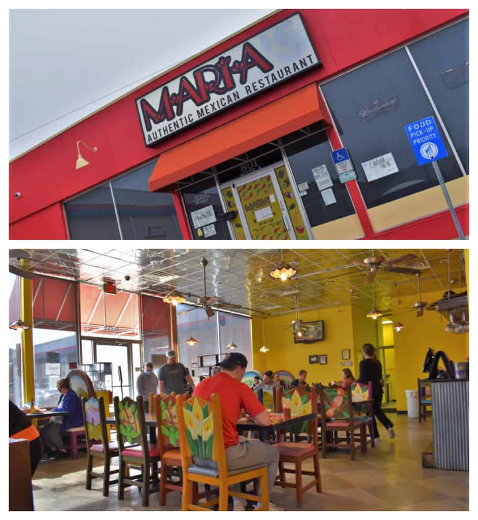 Maria Mexican Restaurant was a great choice for a chance to dine with the locals.