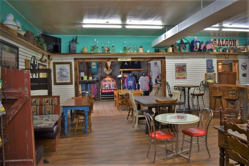 The Vintage Cowgirl offers travelers a break from the road and a place to pick up some Route 66 souvenirs.