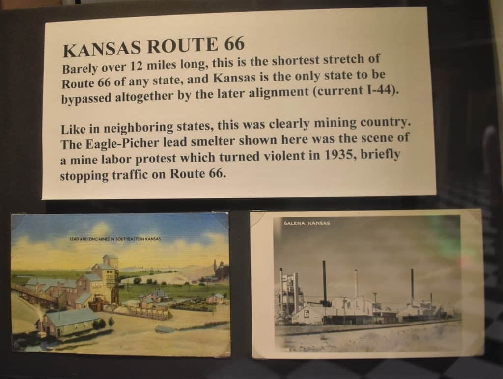 The Route 66 Museum allocates space to highlight the section of Mother Road in nearby Kansas.
