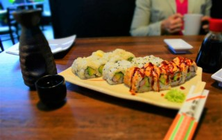 A plate full of sushi is a great way to begin a meal filled with fan favorites.