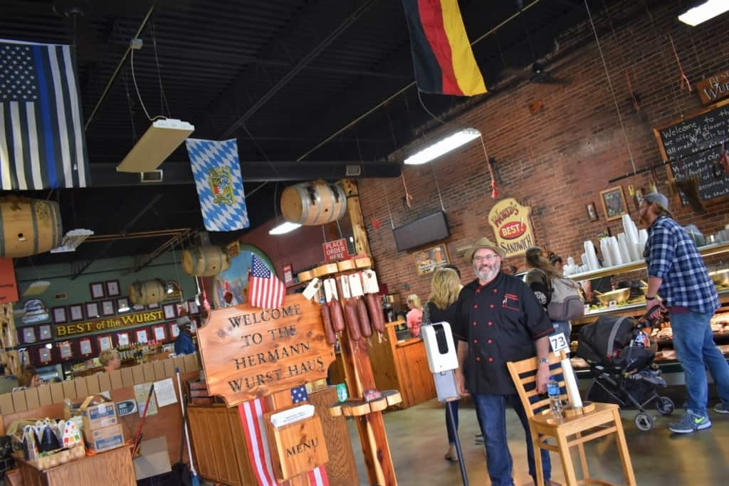 The Hermann Wurst Haus is a purveyor of German cuisine and smoked meats.