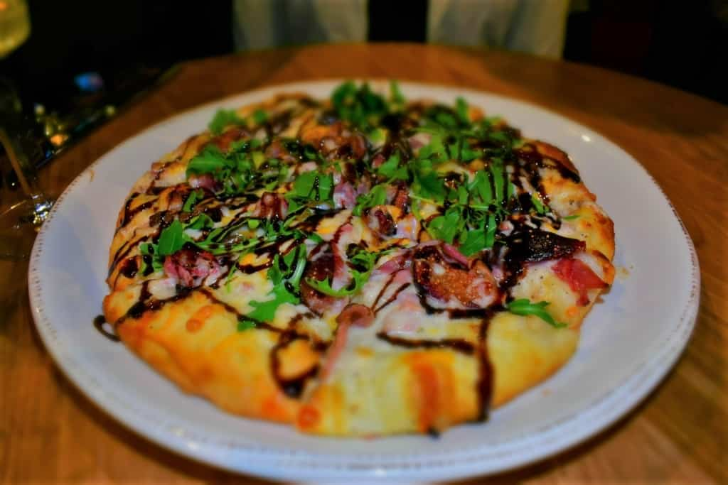 The Fig & Prosciutto Pizza has a mighty combination of flavors.