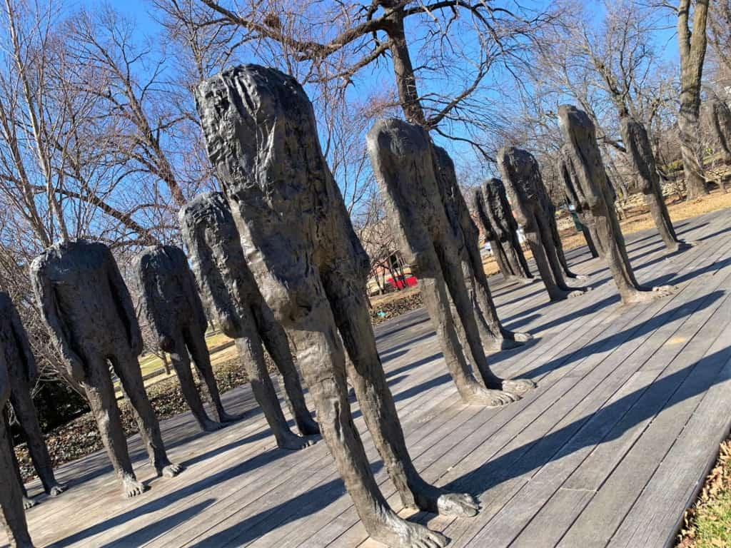 These headless statues remind us how we feel during Daylight Savings Time.