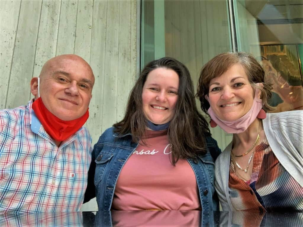 the authors are joined by their daughter for an outing at the Kemper Museum of Contemporary Art.
