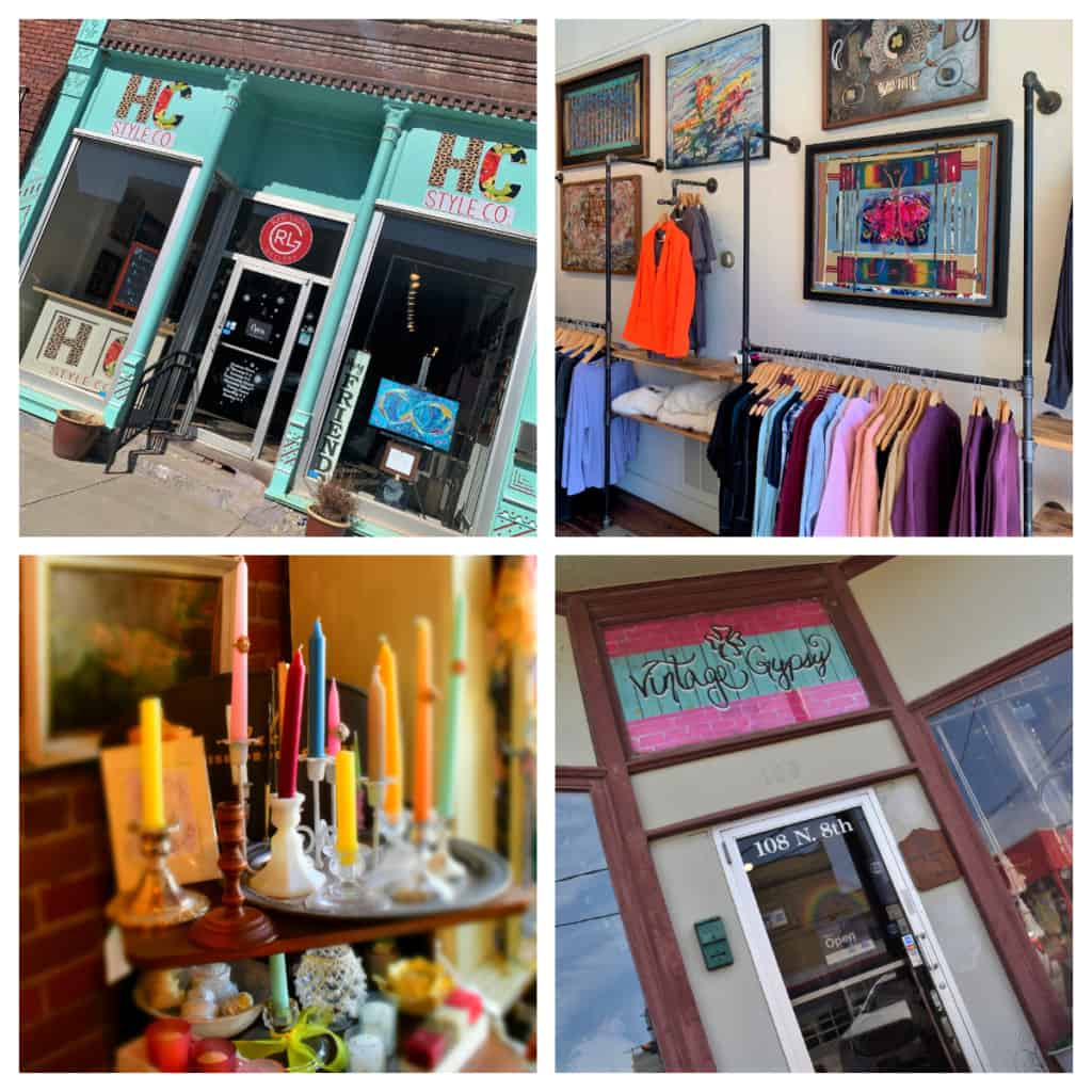 Exploring the locally owned shops is a must-do when exploring Atchison in one day.
