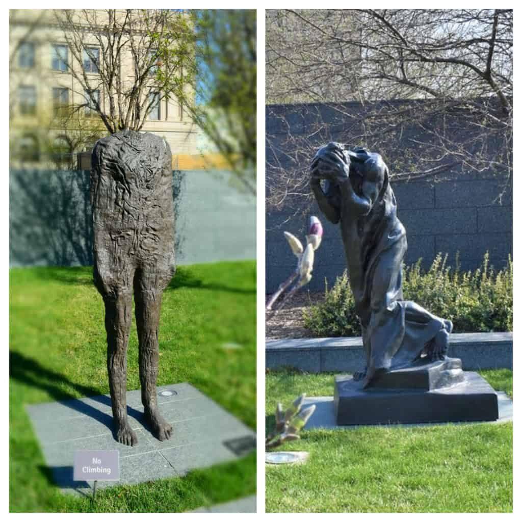 We found familiar pieces in the outdoor sculpture garden.